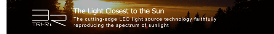 The Light Closest to the Sun The cutting-edge LED light source technology faithfully reproducing the spectrum of sunlight.